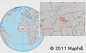 Gray Location Map of Boaré