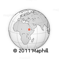 Outline Map of Metema, rectangular outline