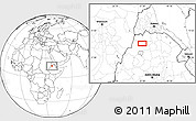 Blank Location Map of Dabat