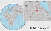 Gray Location Map of Dabat