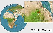 Satellite Location Map of Dabat