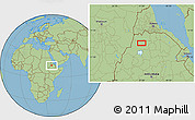 Savanna Style Location Map of Dabat