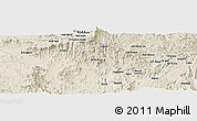 Shaded Relief Panoramic Map of Dabat