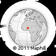 Outline Map of Dosso, rectangular outline