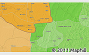 Political 3D Map of Da
