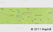 Physical Panoramic Map of Bouna