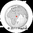 Outline Map of Afar Zone 2, rectangular outline