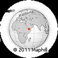 Outline Map of Laḩij, rectangular outline
