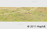 Satellite Panoramic Map of San