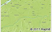 Physical Map of Ségou