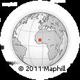 Outline Map of Ségou, rectangular outline