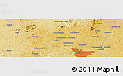 "Physical Panoramic Map of the area around 13° 13' 56"" N, 77° 25' 30"" E"