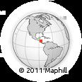 Outline Map of El Zapote, rectangular outline