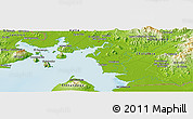 """Physical Panoramic Map of the area around 13°13'56""""N,87°28'29""""W"""