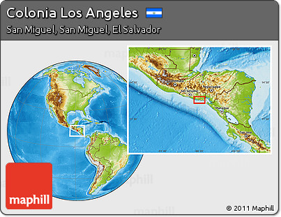 Free Physical Location Map Of Colonia Los Angeles