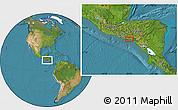 Satellite Location Map of Candelaria