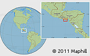 Savanna Style Location Map of Candelaria