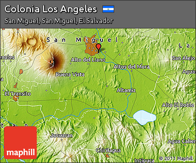 Free Physical Map Of Colonia Los Angeles