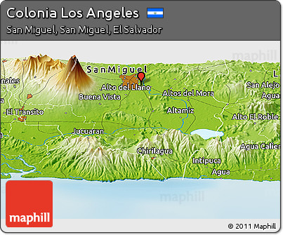 Free Physical Panoramic Map Of Colonia Los Angeles