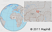 Gray Location Map of Téra