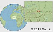 Savanna Style Location Map of Téra