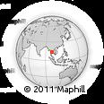 Outline Map of Bangkok, rectangular outline