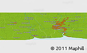 Physical Panoramic Map of Bangkok