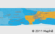 Political Panoramic Map of Bangkok