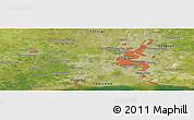 Satellite Panoramic Map of Bangkok