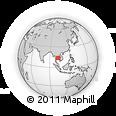 Outline Map of Sa Kaeo, rectangular outline