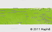 """Physical Panoramic Map of the area around 13°44'54""""N,102°4'29""""E"""