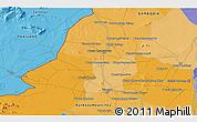 Political 3D Map of Phumĭ Bát Tráng