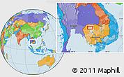 Political Location Map of Phumĭ Âmpĭl