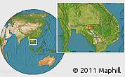 Satellite Location Map of Phumĭ Dângkiĕb Kdam (1)