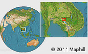 Satellite Location Map of Phumĭ Âmpĭl