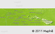 Physical Panoramic Map of Phumĭ Ânlóng Thmâ