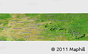 Satellite Panoramic Map of Phumĭ Don Miĕv