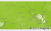 """Physical 3D Map of the area around 13°44'54""""N,104°37'30""""E"""