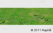 Satellite Panoramic Map of Phumĭ Chŭb Kraôm