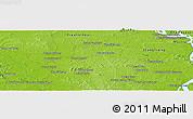 Physical Panoramic Map of Phumĭ Préal