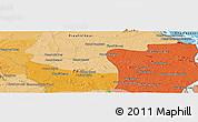 Political Panoramic Map of Phumĭ Préal