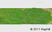 Satellite Panoramic Map of Phumĭ Préal
