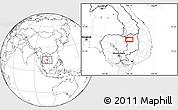 Blank Location Map of Stœ̆ng Trêng