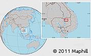 Gray Location Map of Stœ̆ng Trêng