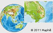 Physical Location Map of Stœ̆ng Trêng