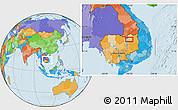 Political Location Map of Stœ̆ng Trêng