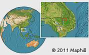 Satellite Location Map of Stœ̆ng Trêng