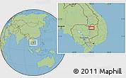 Savanna Style Location Map of Stœ̆ng Trêng