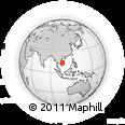 Outline Map of Stœ̆ng Trêng, rectangular outline