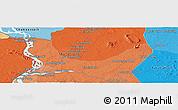 Political Panoramic Map of Phumĭ Kăng Mémay